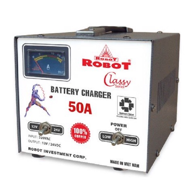 sạc bình ắc quy robot