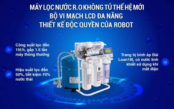 Máy Lọc Nước R.O ROBOT không tủ