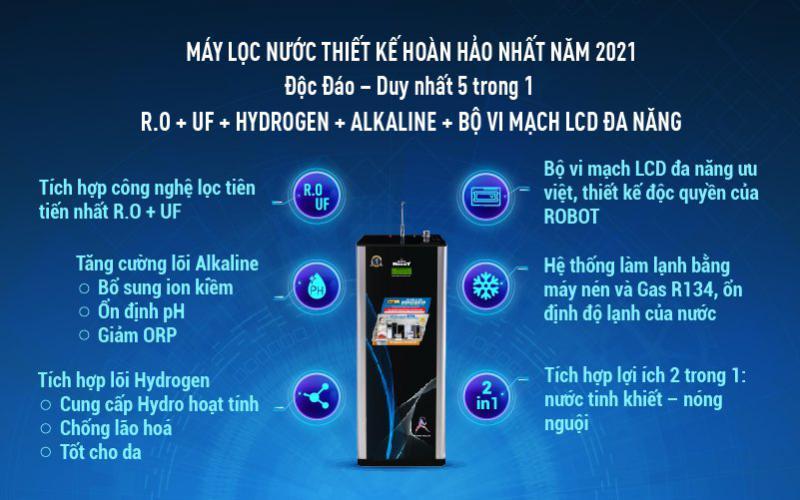 máy lọc nước nóng lạnh 739GK-UR hoàn hảo 2021
