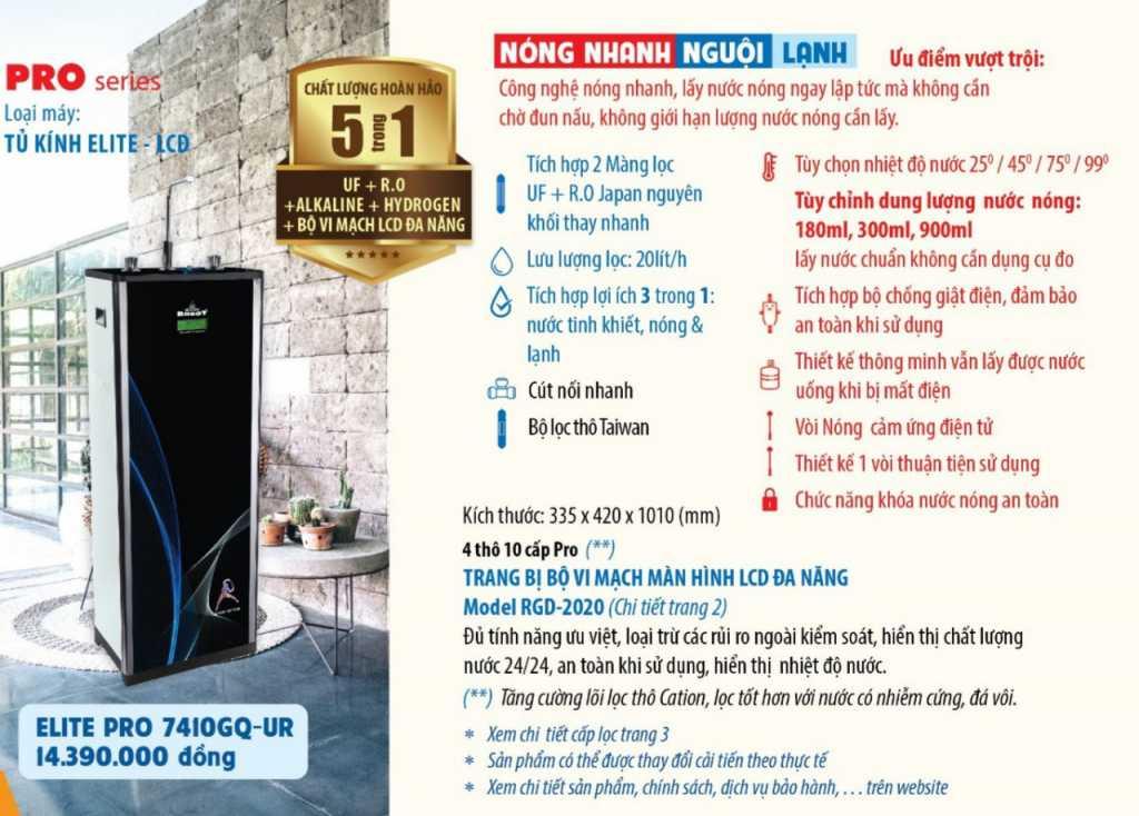 máy lọc nước nóng nguội lạnh